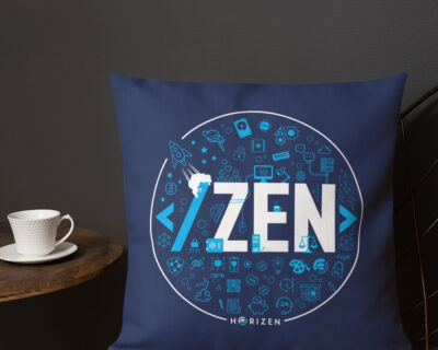 """ZEN"" Premium Throw Pillow"